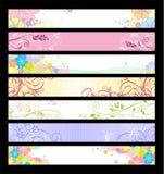 Banderas florales del Web site Foto de archivo