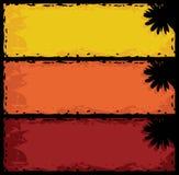 Banderas florales sucias ilustración del vector