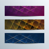 Banderas geométricas brillantes Fotos de archivo libres de regalías