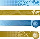 Banderas globales fijadas Fotografía de archivo libre de regalías
