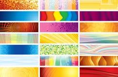 Banderas horizontales Imágenes de archivo libres de regalías