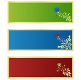 Banderas horizontales Foto de archivo