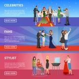 Banderas horizontales de la celebridad ilustración del vector