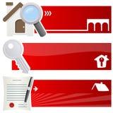 Banderas horizontales de Real Estate Fotografía de archivo libre de regalías