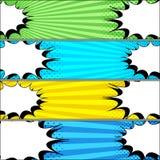 Banderas horizontales del duelo cómico stock de ilustración