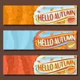 Banderas horizontales determinadas del vector para la estación del otoño ilustración del vector