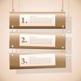 Banderas horizontales en las cuerdas Fotos de archivo libres de regalías
