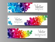 Banderas horizontales florales Imágenes de archivo libres de regalías