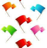 Banderas inconsútiles del vector del modelo Fotos de archivo