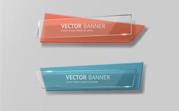 Banderas infographic de la papiroflexia del vector fijadas Imagenes de archivo