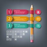 Banderas infographic de papel con 4 pasos, opciones Imagenes de archivo