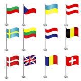 Banderas internacionales Fotografía de archivo