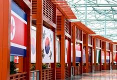 Banderas internacionales Fotografía de archivo libre de regalías
