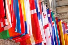 Banderas internacionales Foto de archivo