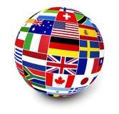 Banderas internacionales del mundo del negocio Imagen de archivo