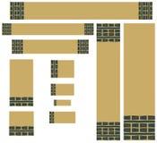 Banderas labradas retras del Web ilustración del vector