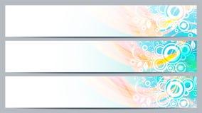 Banderas mínimas del diseño para su texto Foto de archivo libre de regalías