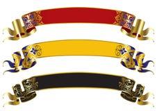 Banderas medievales Imagenes de archivo