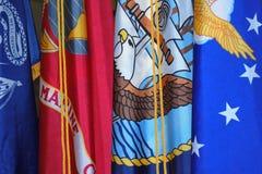 Banderas militares Imagen de archivo libre de regalías
