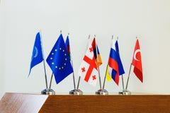 Banderas miniatura de países Imagen de archivo libre de regalías