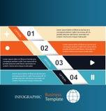 banderas Modelo de Infographic stock de ilustración
