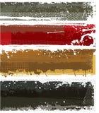 Banderas modernas fijadas Fotografía de archivo libre de regalías