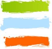 Banderas multicoloras sucias stock de ilustración