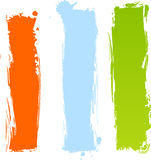 Banderas multicoloras sucias verticales Imagenes de archivo