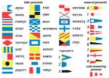 Banderas náuticas ilustración del vector