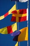 Banderas náuticas Foto de archivo libre de regalías