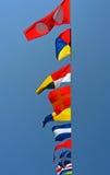 Banderas náuticas Fotografía de archivo