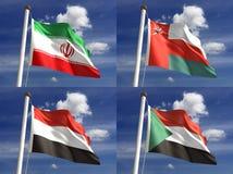 Banderas nacionales Foto de archivo