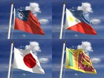 Banderas nacionales Imagen de archivo