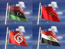 Banderas nacionales Fotos de archivo