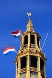 Banderas nacionales holandesas Foto de archivo