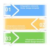 Banderas numeradas de la flecha Modelo del diseño Fotos de archivo