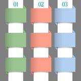 Banderas numeradas papel en colores en colores pastel Imagen de archivo
