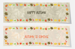 Banderas o jefe agradables del otoño para el web o la impresión Imágenes de archivo libres de regalías