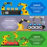 Banderas ortogonales del transportador de la automatización libre illustration