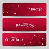 Banderas para el día de tarjeta del día de San Valentín del St. Imágenes de archivo libres de regalías