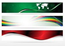 Banderas para el Web (colección del vector) Imagen de archivo