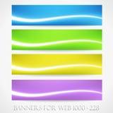 Banderas para el web. (Vector collection11) Foto de archivo