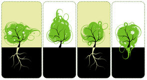 Banderas para usted diseño, árboles del arte Fotos de archivo libres de regalías