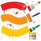 Banderas pintadas Imagen de archivo libre de regalías