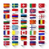 Banderas planas Fotos de archivo
