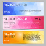 Banderas poligonales abstractas del vector fijadas libre illustration