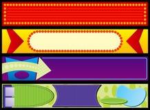 Banderas publicitarias retras del Web Fotos de archivo libres de regalías
