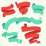 Banderas retras fijadas - ejemplo del vector Ilustración del Vector