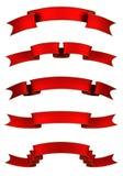Banderas rojas ilustración del vector