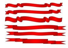 Banderas rojas fijadas Imagen de archivo libre de regalías